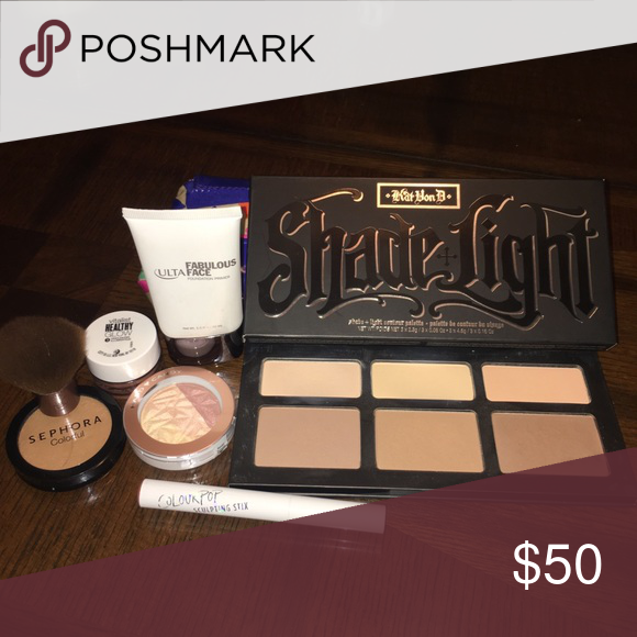 Highlight Contour Bundle Includes Kat Von D Shade And Light Contour Palette Ulta Fabulous Face Price Dupe Contouring And Highlighting Eyeshadow Base Sephora