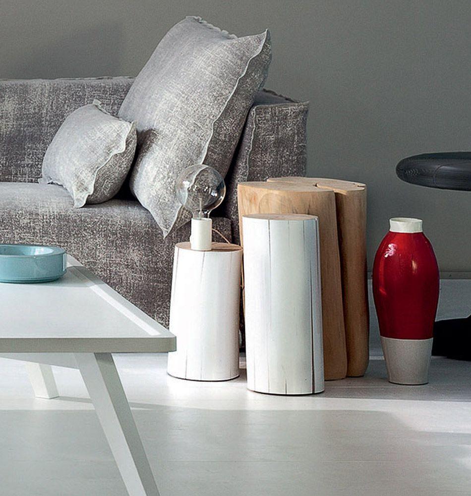 Gervasoni Beistelltisch Log M Weiss Design Beistelltisch Italienische Mobel Und Kleine Raume Einrichten