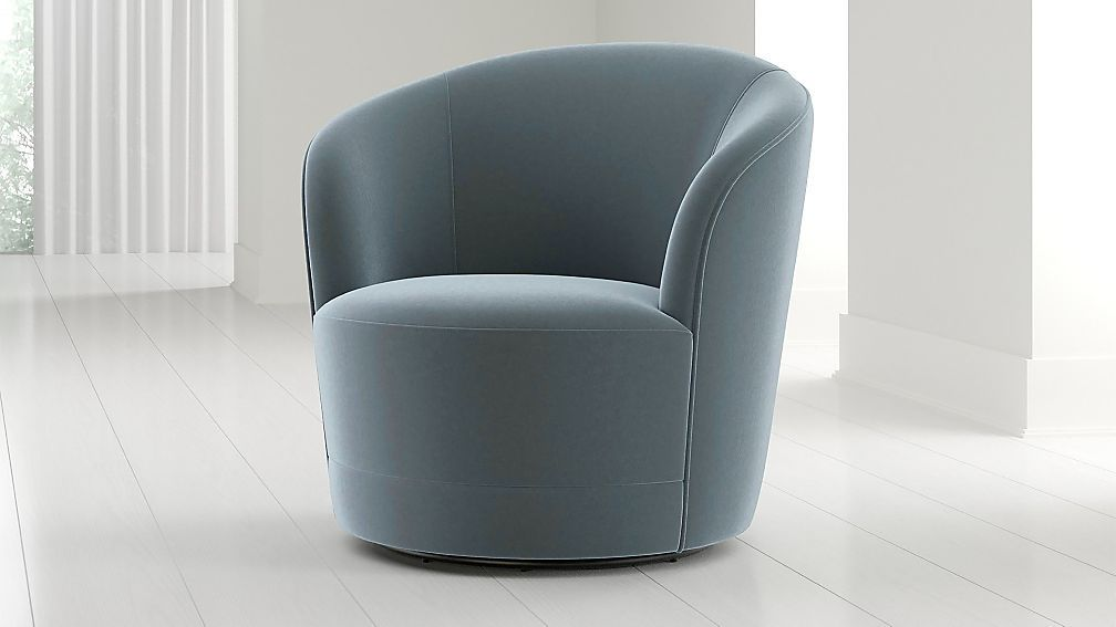 Infiniti velvet swivel chair reviews crate and barrel