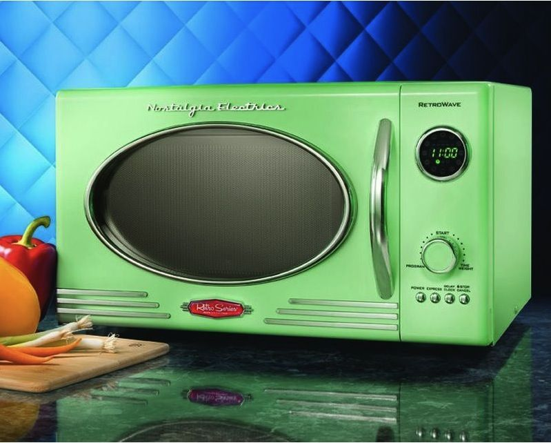 My New Microwave In Retro Green Color 3