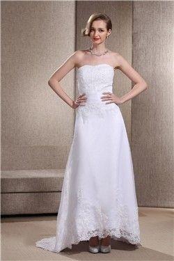 2013 günstige brautkleider aus satin mit spitze mit schleppe  wedding gowns online informal