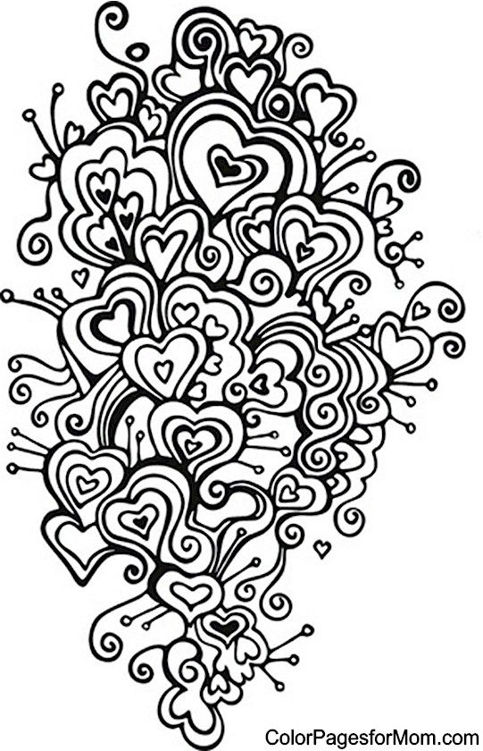 Hearts Coloring Page 20 | Hearts to Color | Pinterest | Adult ...
