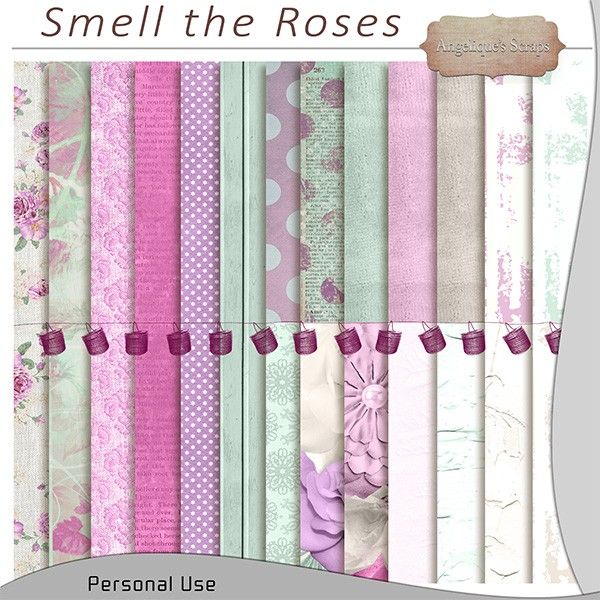 """Kit """"Smell the roses"""" by Angélique's Scraps http://www.digi-boutik.com/boutique/index.php?main_page=product_info&cPath=106_215&products_id=9280  http://scrapfromfrance.fr/shop/index.php?main_page=product_info&cPath=88_246&products_id=7312"""