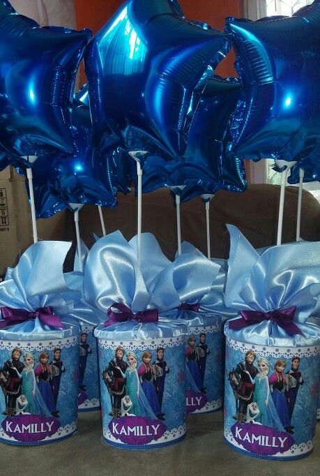 Centro de mesa frozen jade pinterest fiesta frozen and frozen party - Centros de mesa de frozen ...