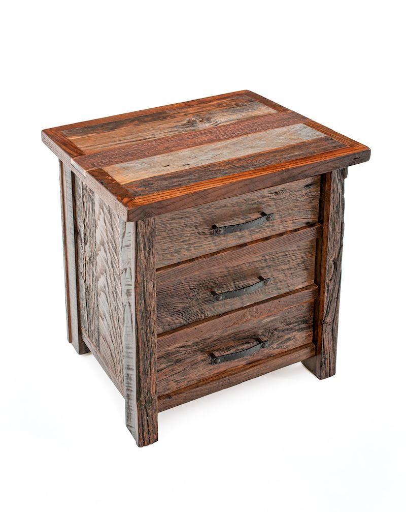 Barnwood End Tables Nightstands Rustic Bedroom Furnishings
