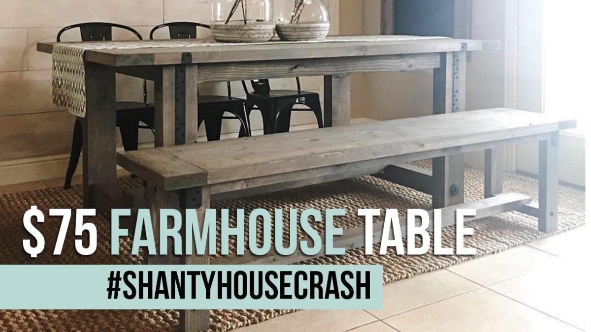 Diy 75 industrial farmhouse table recipe farmhouse