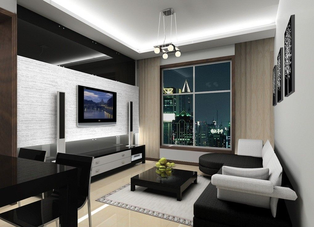 Gray fashion living room interior design | 3D house, Free 3D house ...