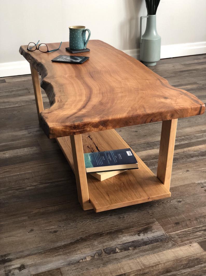 Live Edge Rustic Wood Coffee Table Farmhouse Table Mid Etsy In 2021 Wood Coffee Table Rustic Coffee Table Wood Coffee Table Farmhouse [ 1059 x 794 Pixel ]
