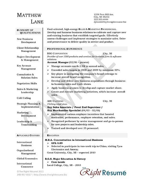 Sample Executive Management Resume Account Manager Resume Example  Resume Examples Sample Resume And .