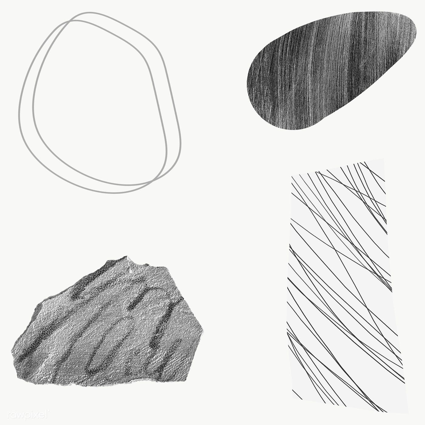 Scribble Strokes And Gray Stone Textures Design Element Collection Transparent Png Free Image By Rawpix Stone Texture Texture Design Black Texture Background