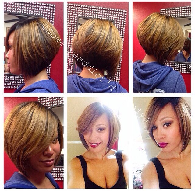 Bob Hairstyle Sew In Full Sewin Bob With Lace Closure  Hair Love ❤Shantell Thomas
