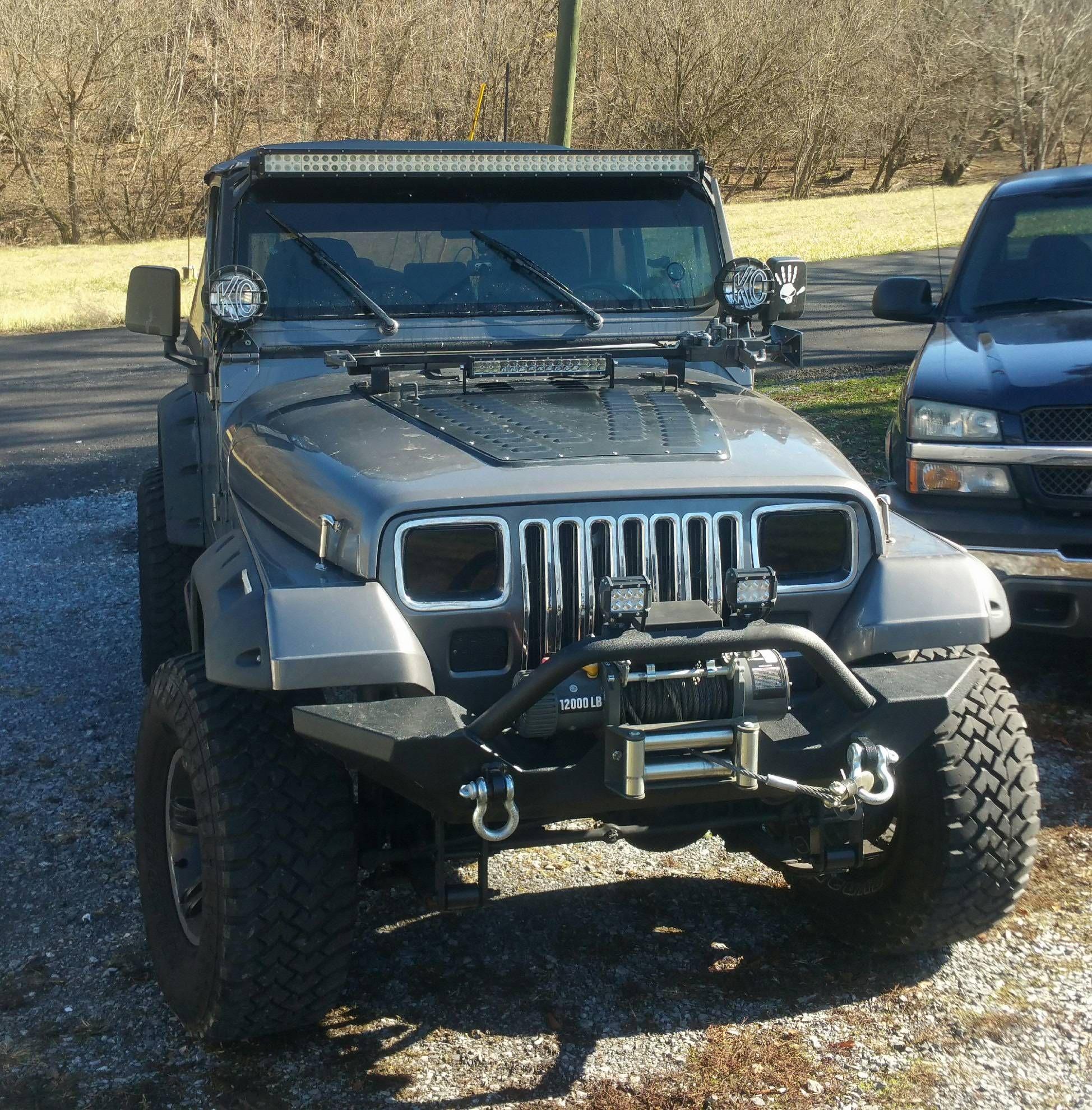 [YJ] I need a new windshield banner idea folks! #jeep #jeeplife