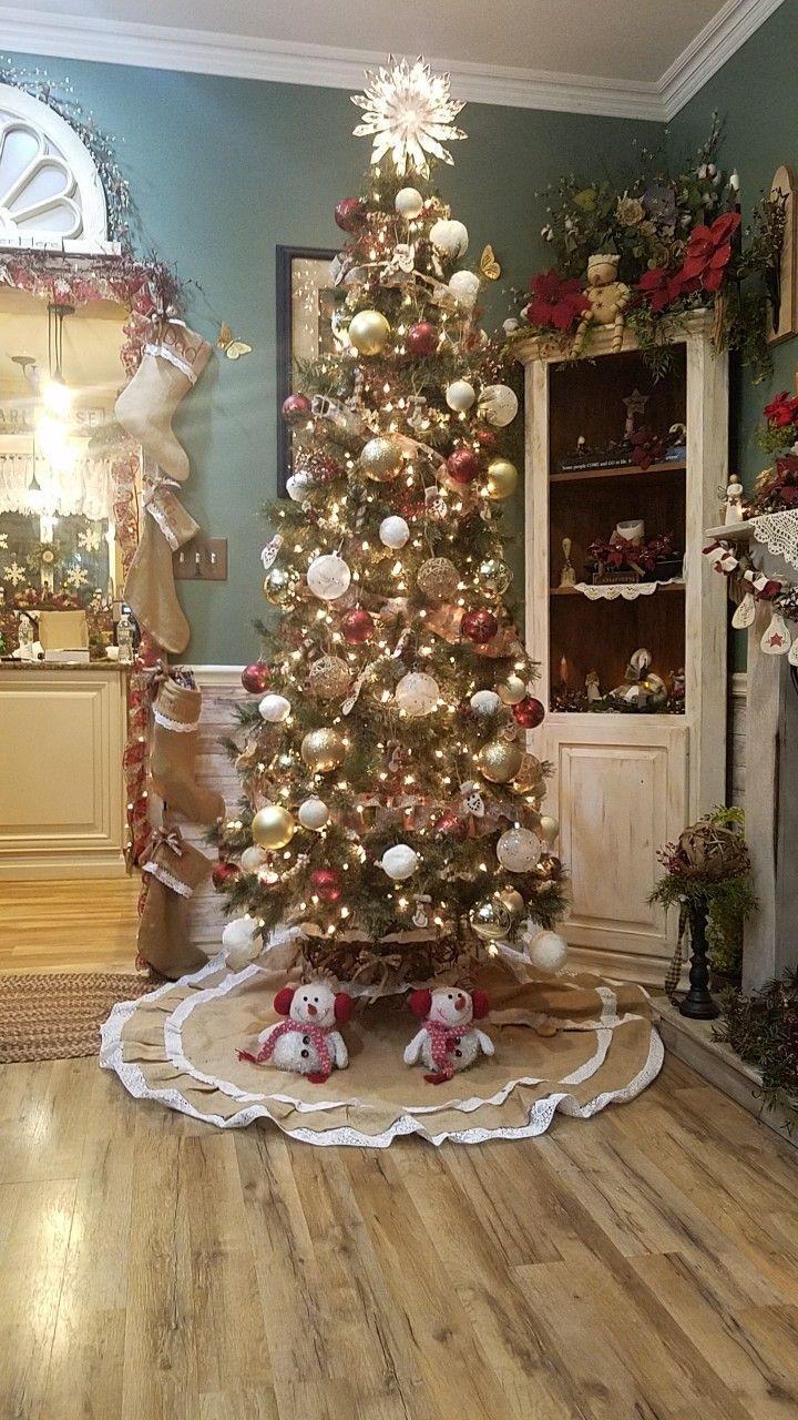 My diy tree collar Holiday decor, Country christmas