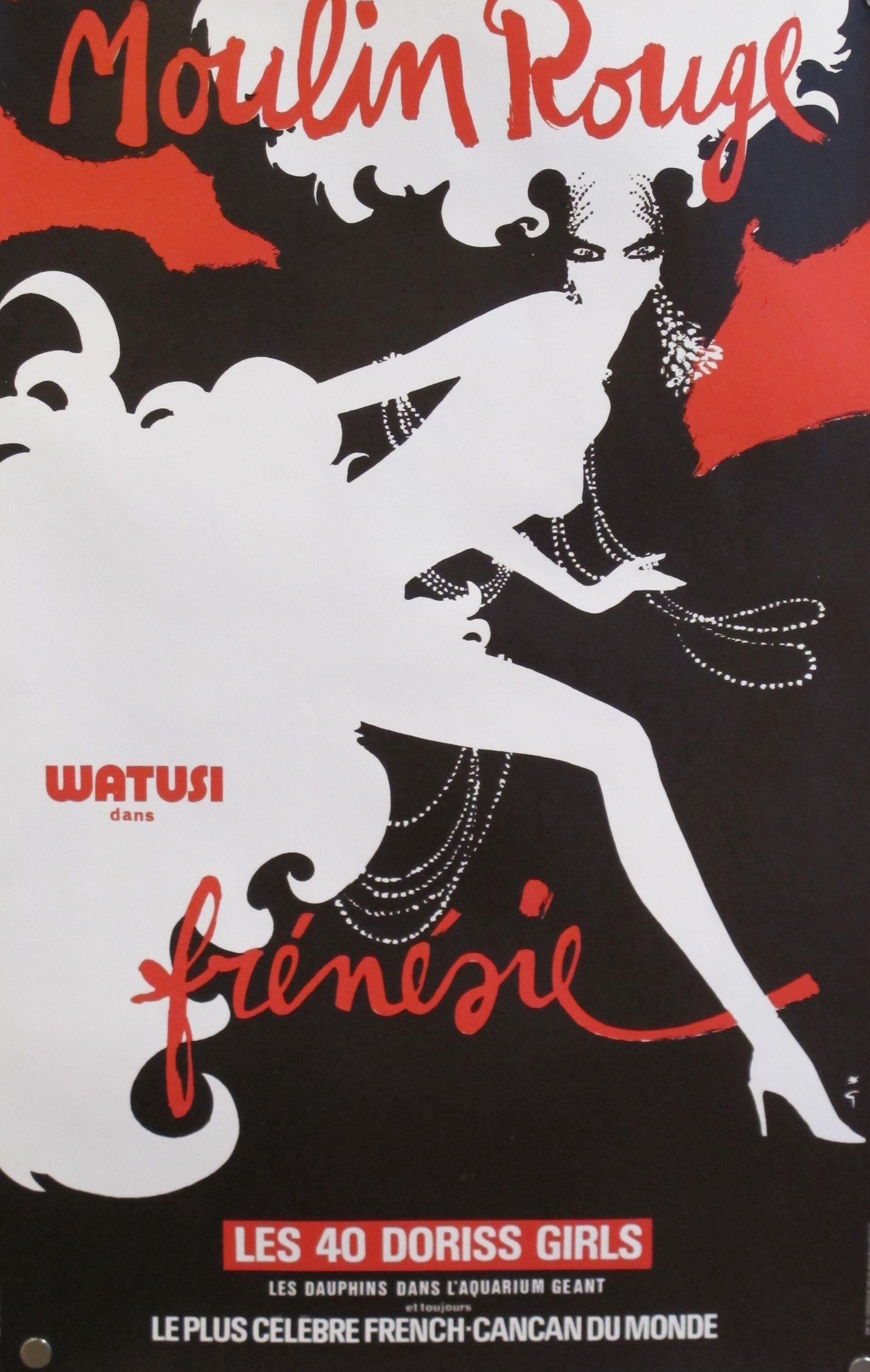 Vintage Rene Gruau Poster