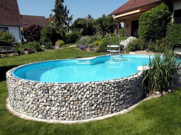 Rund um den Pool Ideen Pool über dem boden