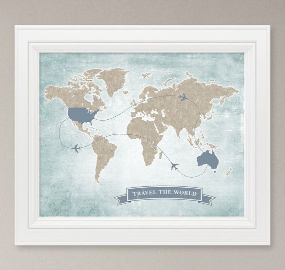 Travel the world map art print 8x10 digital print personalized travel the world map art print 8x10 digital print personalized destination map wedding guest signage poster gumiabroncs Choice Image