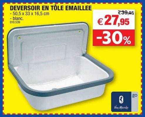 Hubo Promotion Deversoir En Tole Emaillee Van Marcke Bacs Evier Tole Evier Un Bac Vans