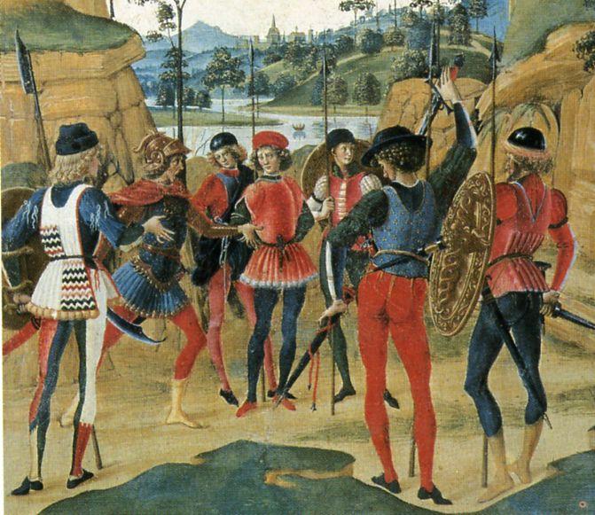 Pinturicchio, Saint Bernardino Releases a Prisoner, 1473. St Bernardino posthumously liberates a man who has been unjustly imprisoned.