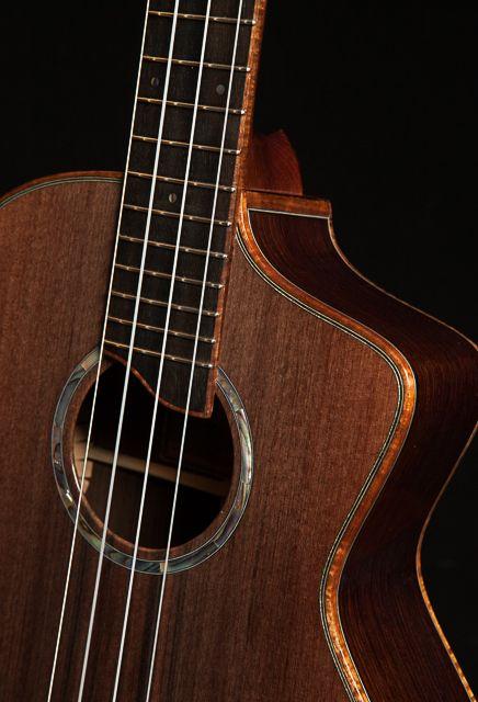 Wenge Tenor Ukulele Cutaway With Sinker Redwood Top Tenor Ukulele Ukulele Guitar