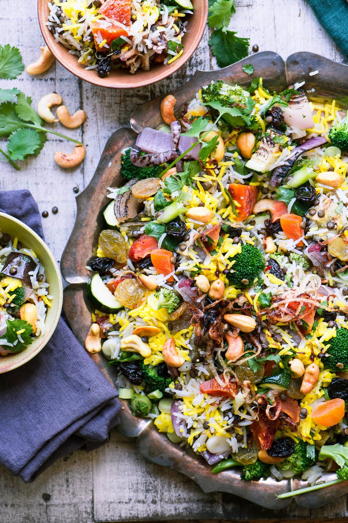 Peach And Cashew Biryani Salad ~ A Gluten Free Rice