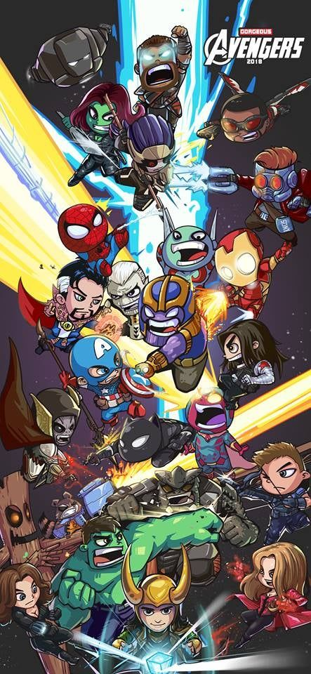 Avengers Infinity War by Gao Yin. marvelstudios in 2020