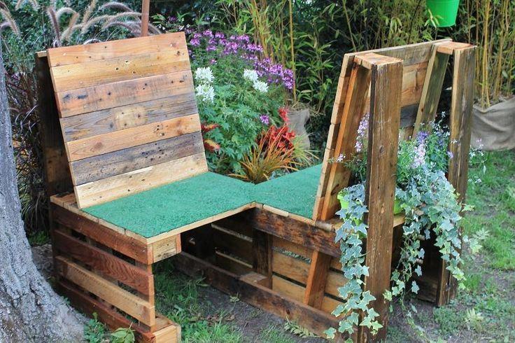 Un confident pour le jardin en bois de palette une idée bien ...