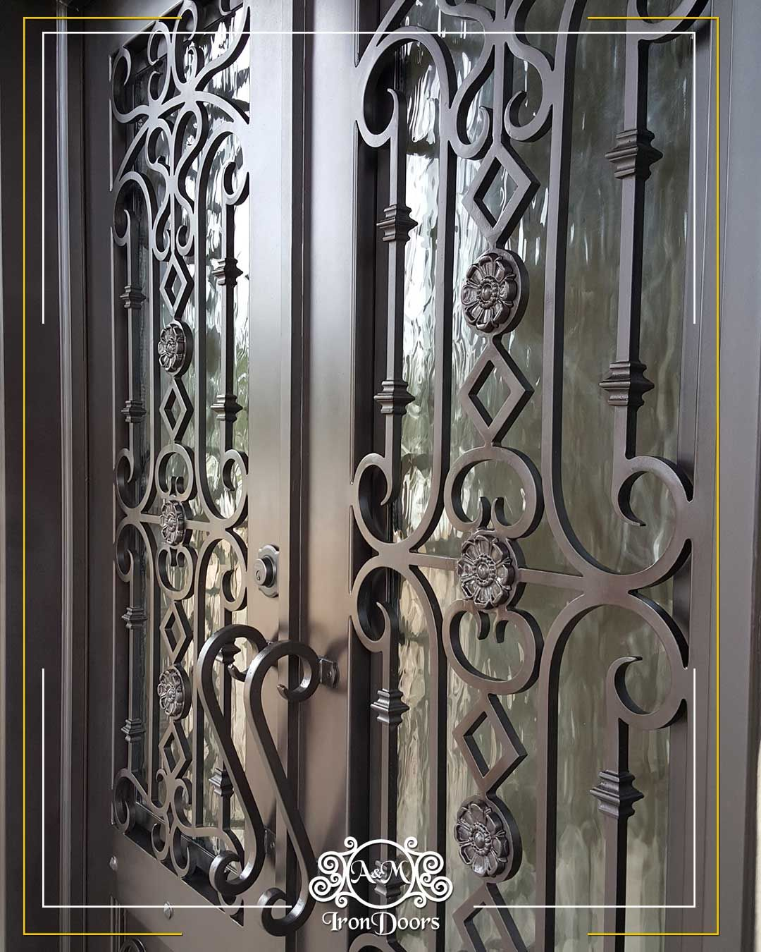Custom Designed Wrought Iron Doors How To Clean Wrought Iron