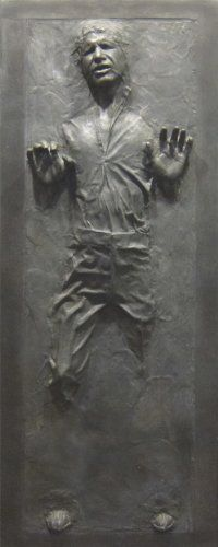 Han Solo in Carbonite Star Wars Fathead style Life size Wall Decal