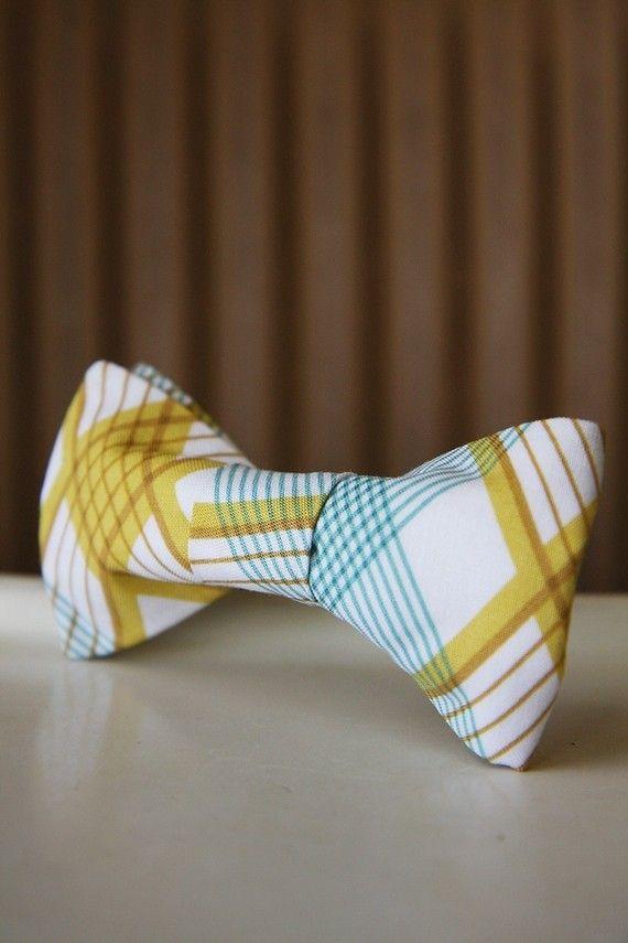 {plaid bow-tie}