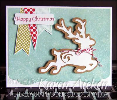 Cricut cut Reindeer card