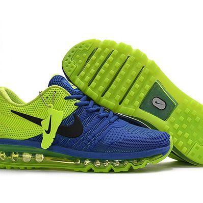 bleu  vert nike max air max courir Chaussureir max nike hommes hommes d48777