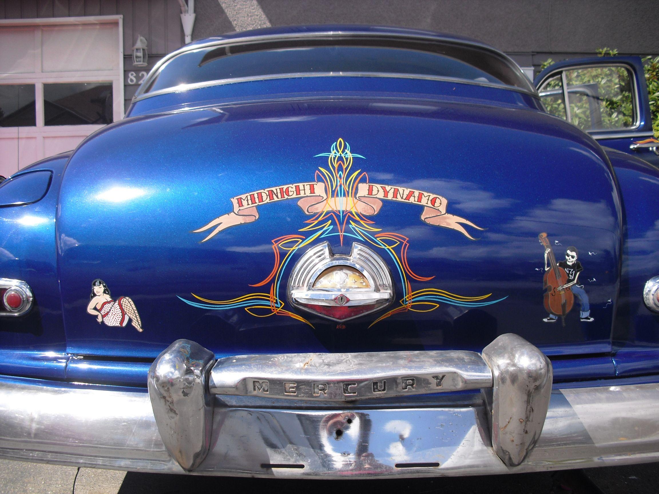 1950merc Mercury Lead Sled Sexy Rear Endpinstripe 1950 Tail Lights