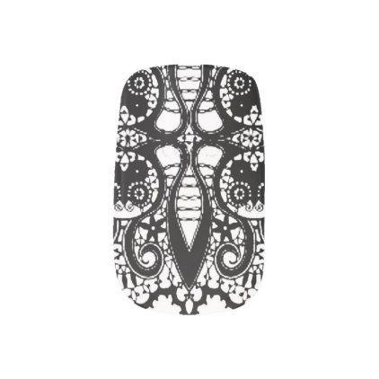PARTY NAILS BLACK LACE MINX NAIL WRAPS - lace gifts style diy unique special ideas