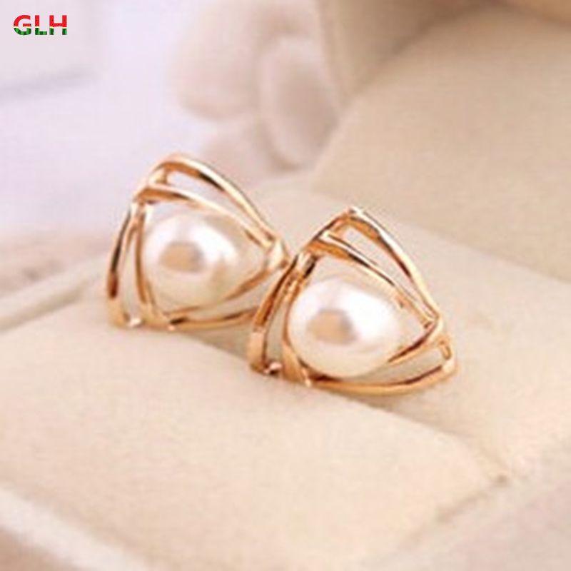 Joyería de moda de corea personalidad salvaje femenina brillante perla pendientes fabricantes al por mayor