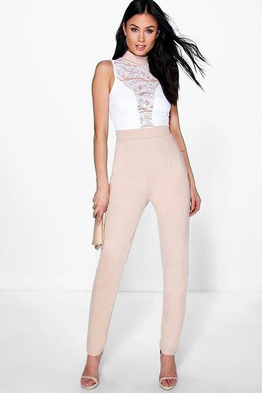 a822b60494 Jess Barely There Lace Skinny Leg Jumpsuit by Boohoo. Jumpsuits are your  day-to-night dress alternativeYour 70s style inspiration starts with a  jumpsuit.