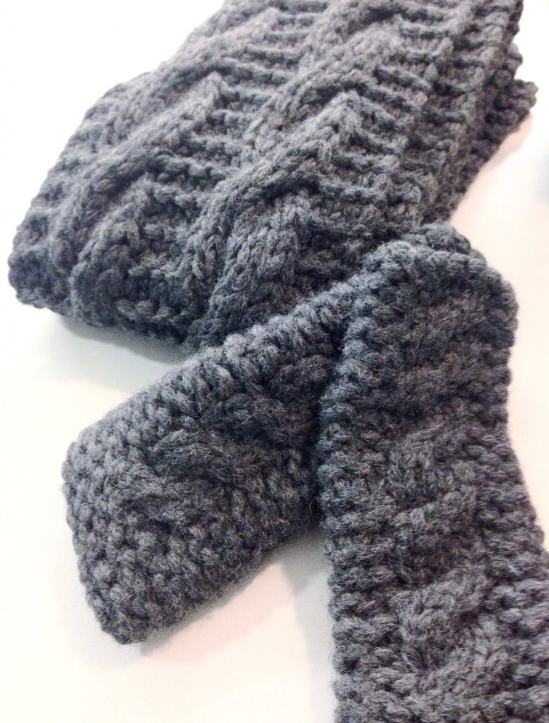 Cabled scarf free knitting pattern - Shortrounds Knitwear | craft ...