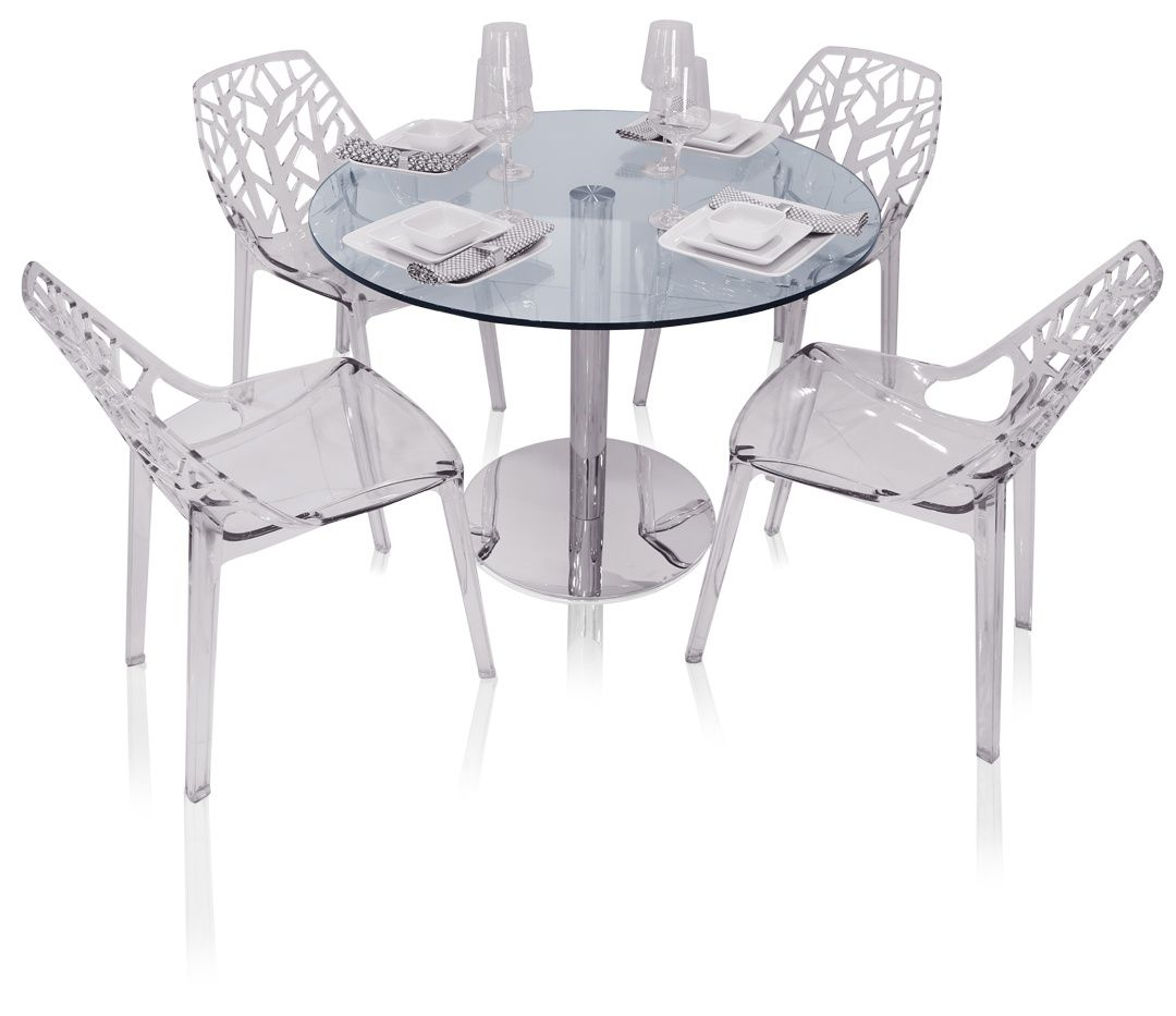 Eve round glass modern dining table kitchen and dining pinterest