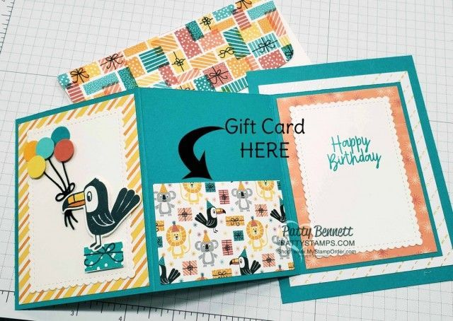 Photo of Fold Out Gift Card Holder with Birthday Bonanza Paper