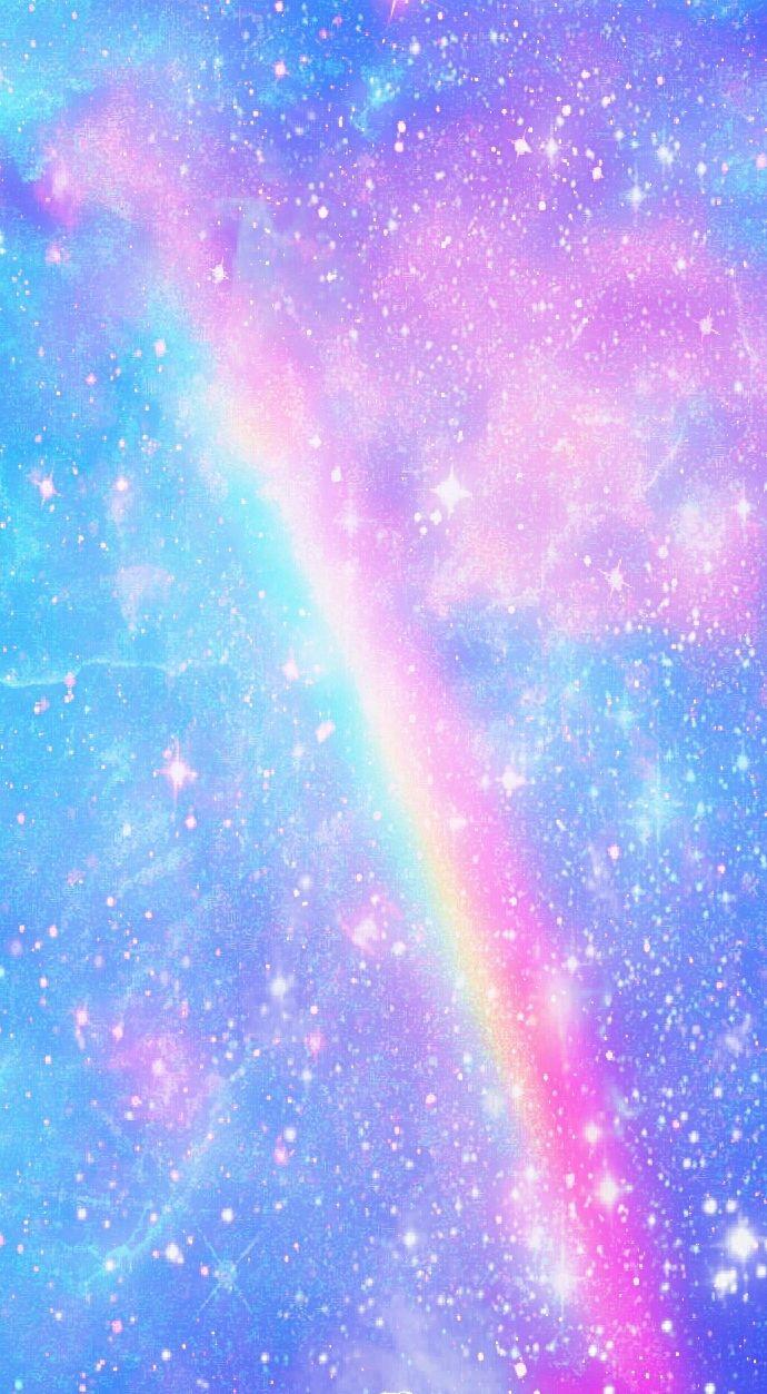 Galaxy Rainbow Background