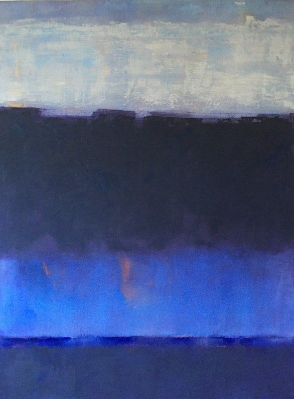 Georgia Gibbs, 2015 40x30 inches Fourth of July 1978 oil and cold wax on panel