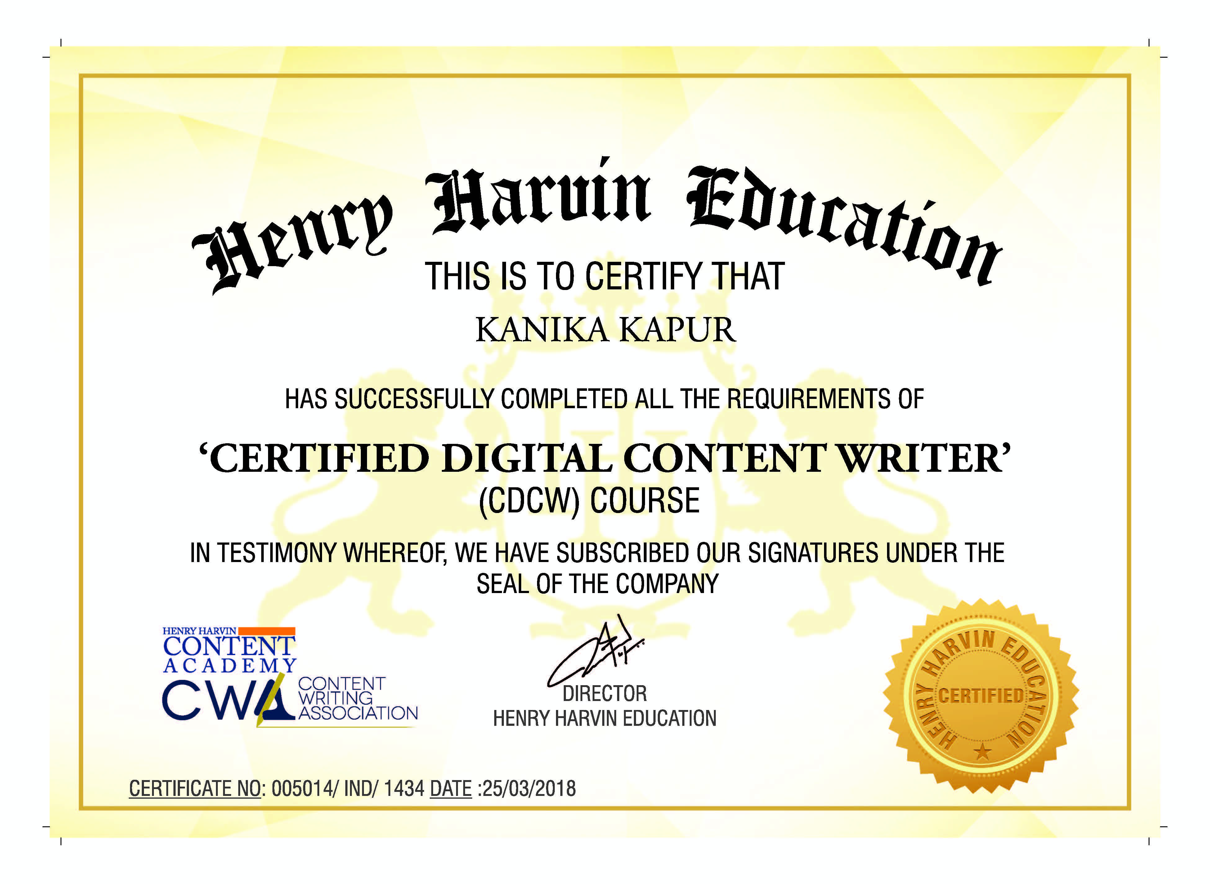 Pin By Henry Harvin Education On Certified Digital Content Writer