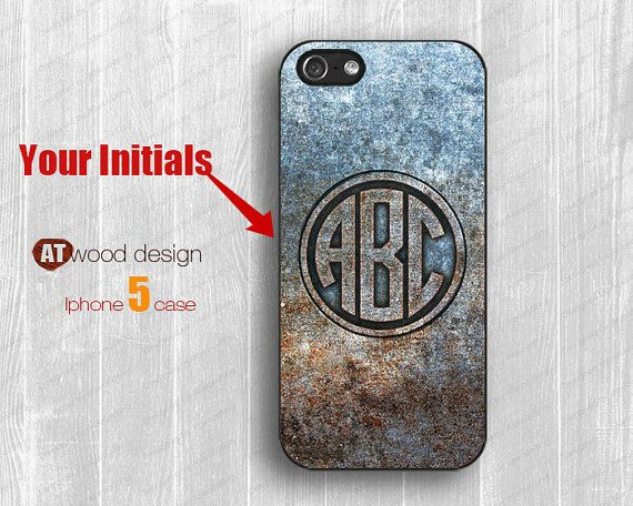 Monogram Iphone case classic metal iphone 5 cover by Atwoodting, $14.99