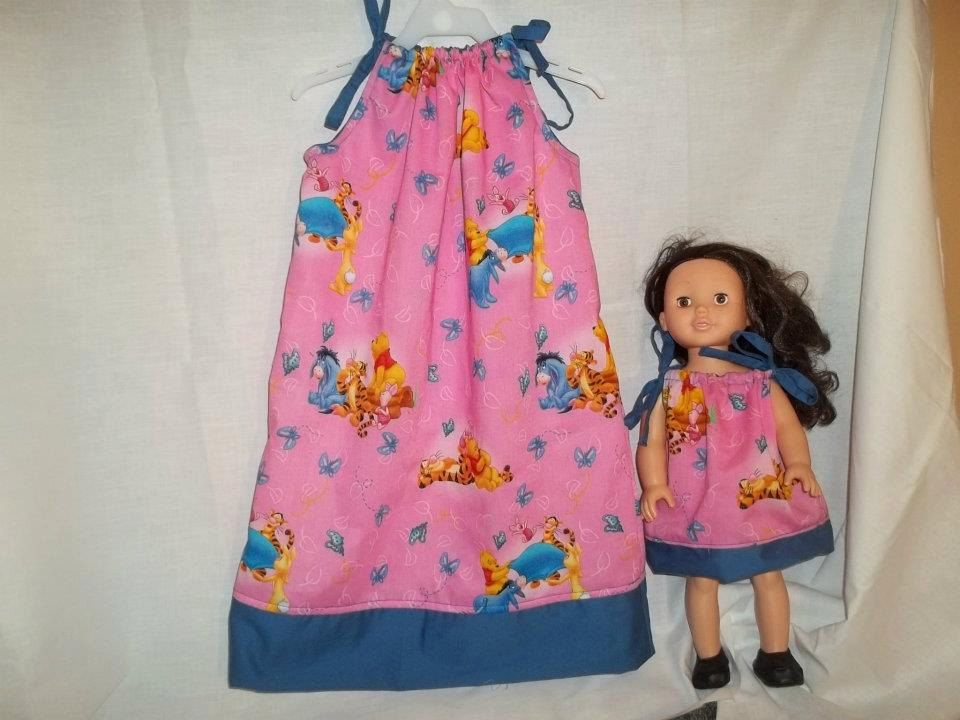 Matching baby doll and girl's dresses Bright by DebsFabricFinds, $18.00