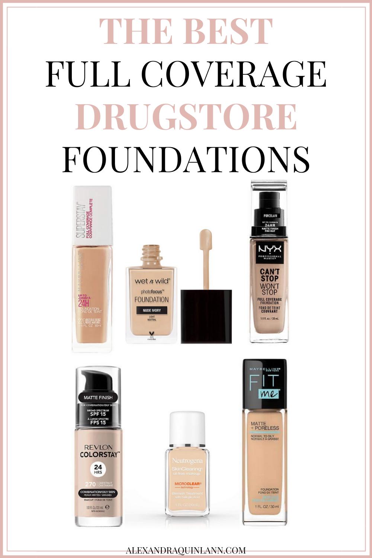 Full Coverage Drugstore Foundation For Oily Skin in 2020