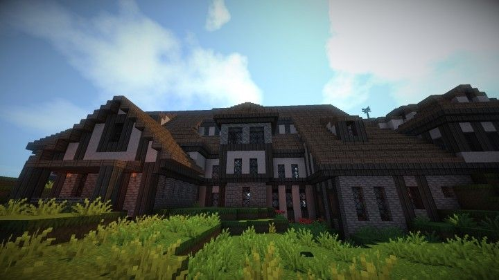 Tudor Style Mansion Minecraft Map With Images Mansions