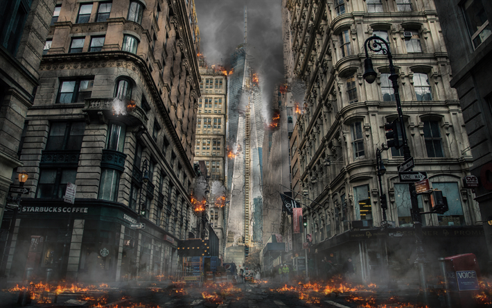 Doomsday Destruction Wallpaper End Of The World Post Apocalyptic City Post Apocalyptic Art Post Apocalyptic