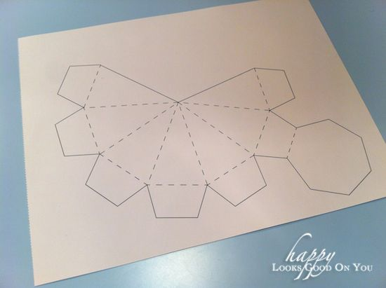 Diy Paper Diamond Print Out Concrete Diy Paper Diamond Diamond Template