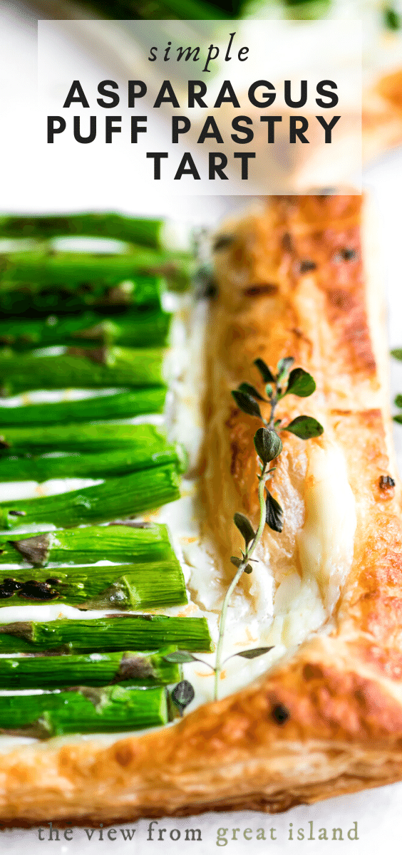 Simple Asparagus Puff Pastry Tart