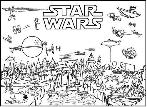 Dibujos de Star Wars para Colorear e Imprimir  Nios  Pinterest