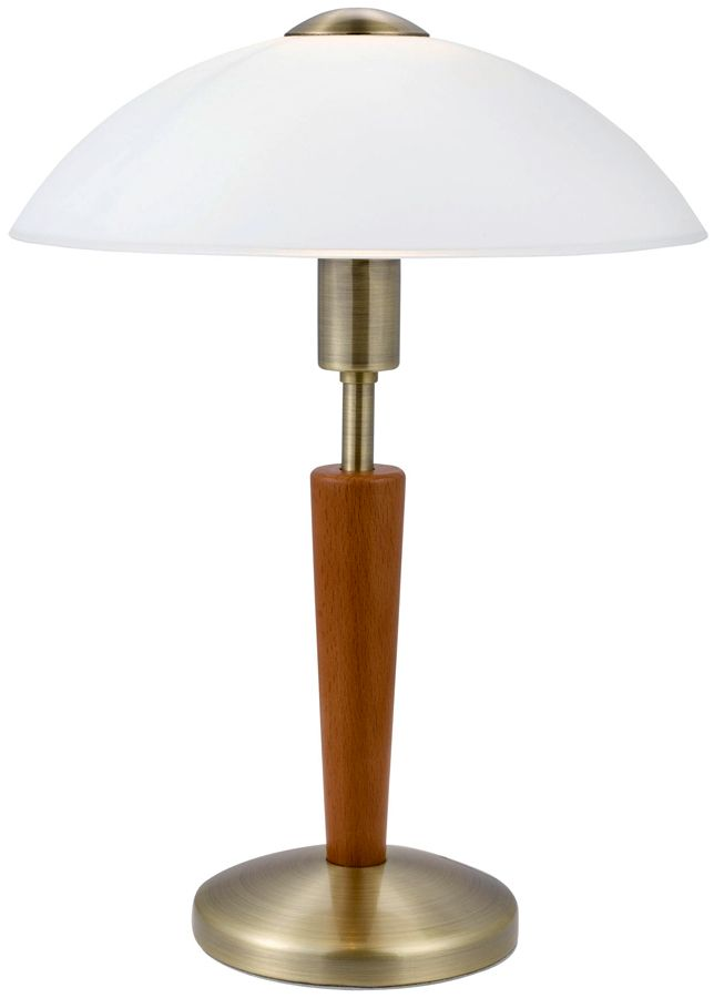 Solo Art Deco Style Bronzed Touch Operated Table Lamp Uls